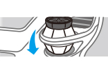 (4)ドリンクホルダーや収納ボックスに固定する。ゲルが小さくなり香りが弱くなったらお取り替え